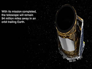 The Kepler space telescope will remain for decades in orbit around the Sun, weaving in and out of Earth's orbital path.