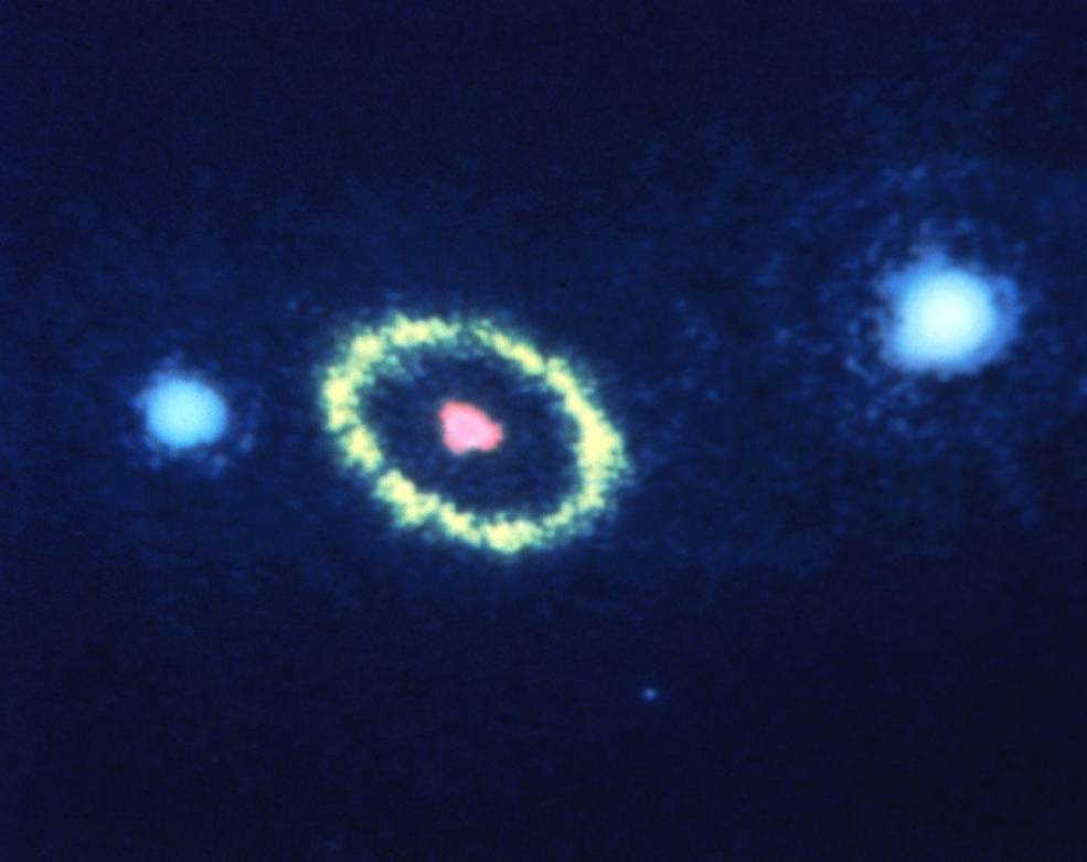 A blurry image of a supernova.
