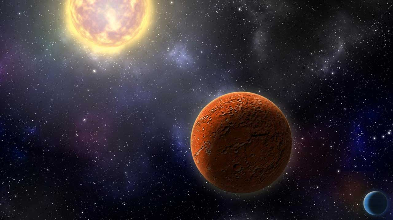 Exoplanet HD 21749c seen near its star, discovered by NASA's TESS space telescope