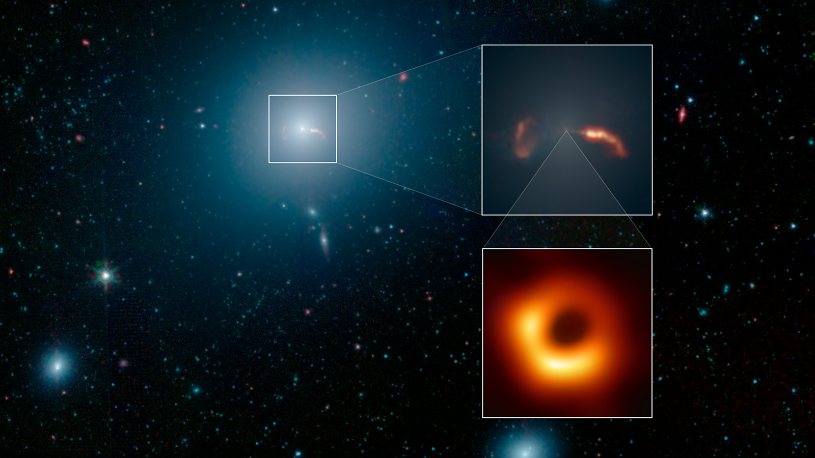 Black hole image shown near image of M87 galaxy