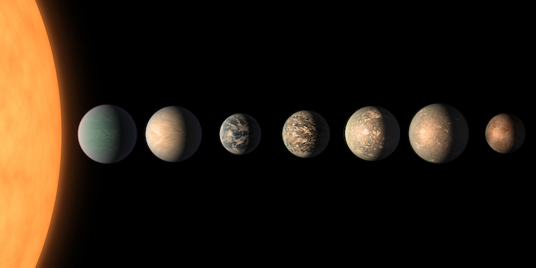 Seven planets of the TRAPPIST-1 system