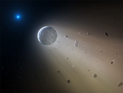 White dwarf cannibalizing planet