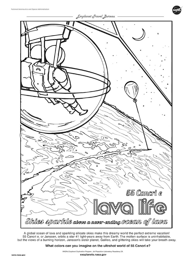 55 Cancri e Coloring Page
