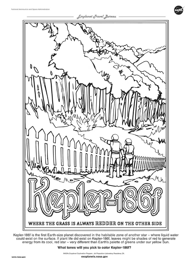 Kepler-186f Coloring Page