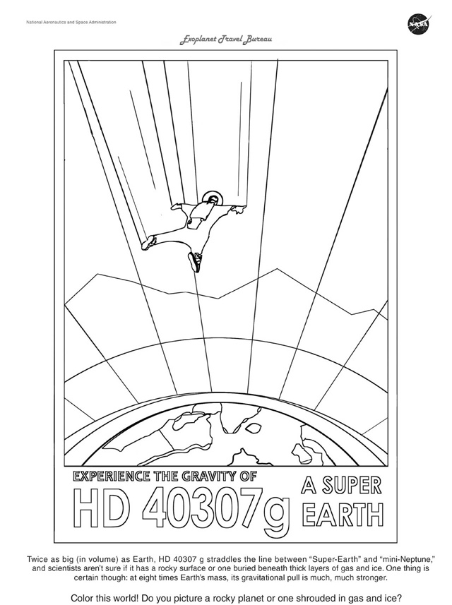 HD 40307g Coloring Page