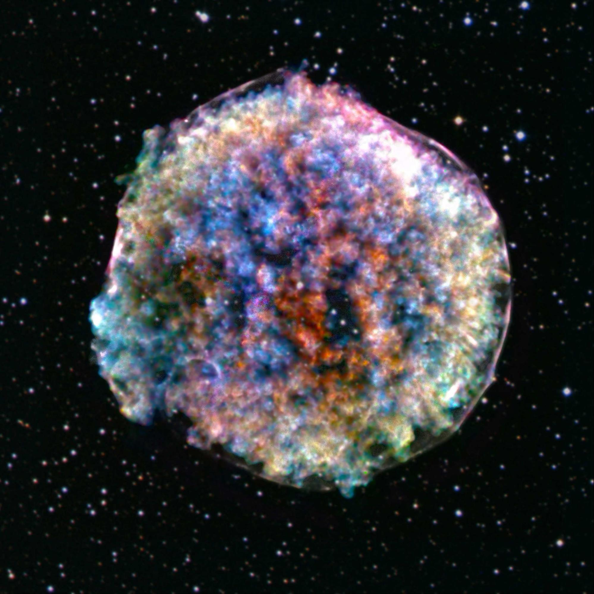 imagem de uma supernova