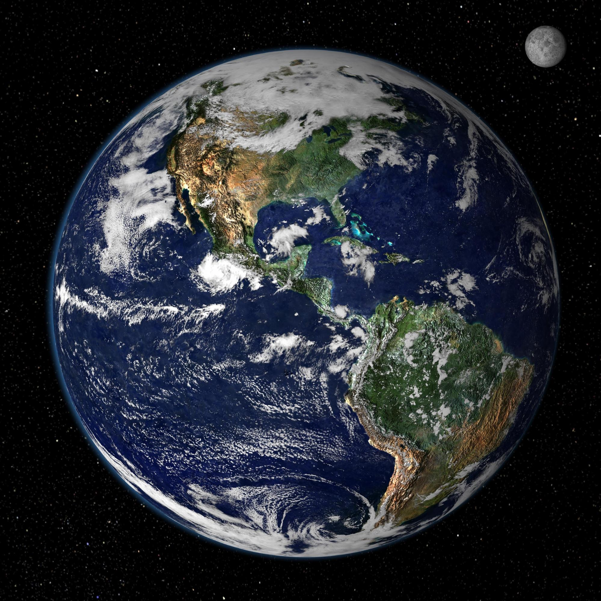 true color image of Earth