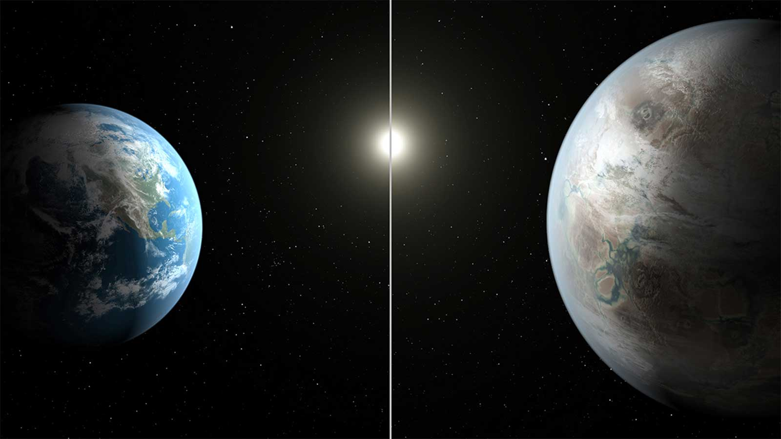 Earth and Kepler-452b