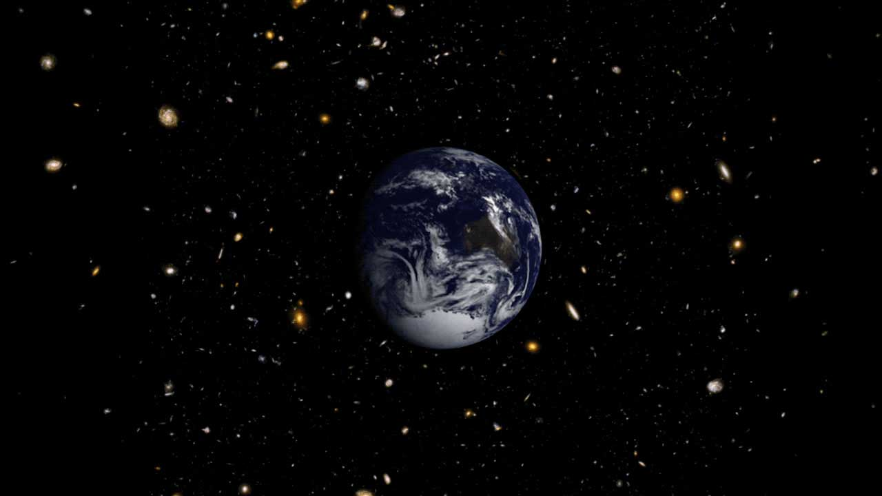 Earth in a Hubble Deep Field portrait