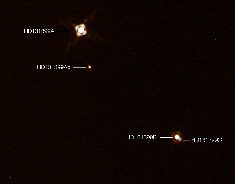ESO three suns SPHERE image