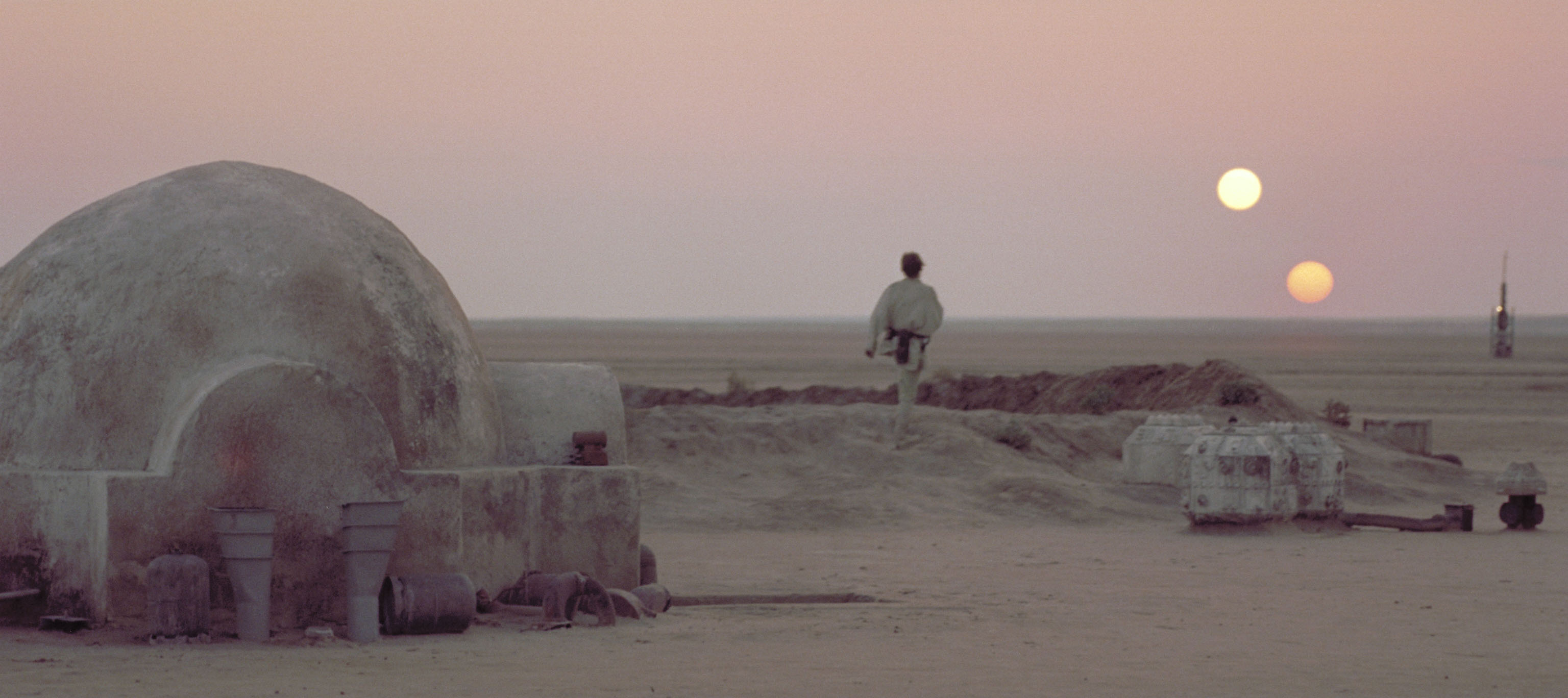 Tatooine and its double sunset