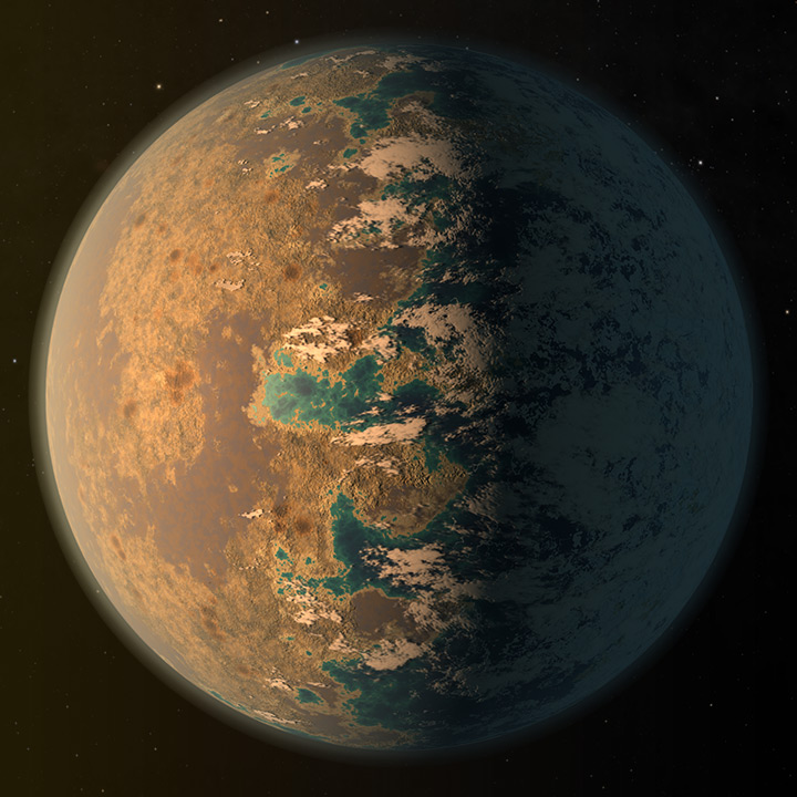 Trappist 1D Planet Illustration