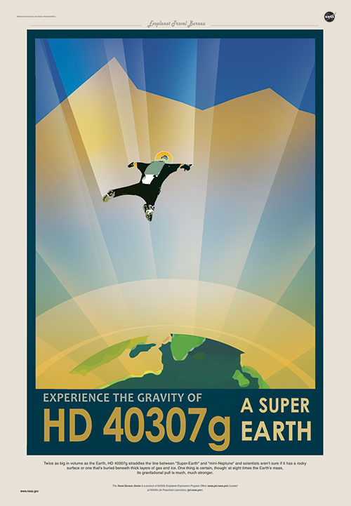 HD 40307g preview Vintage Poster from Space