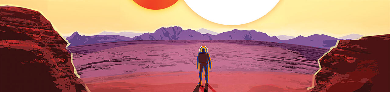 based on the Kepler 16b travel poster.