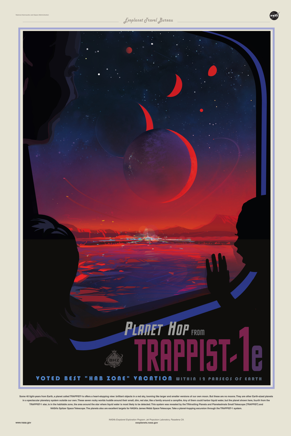 Planet Hop From TRAPPIST 1e U2013 Exoplanet Exploration