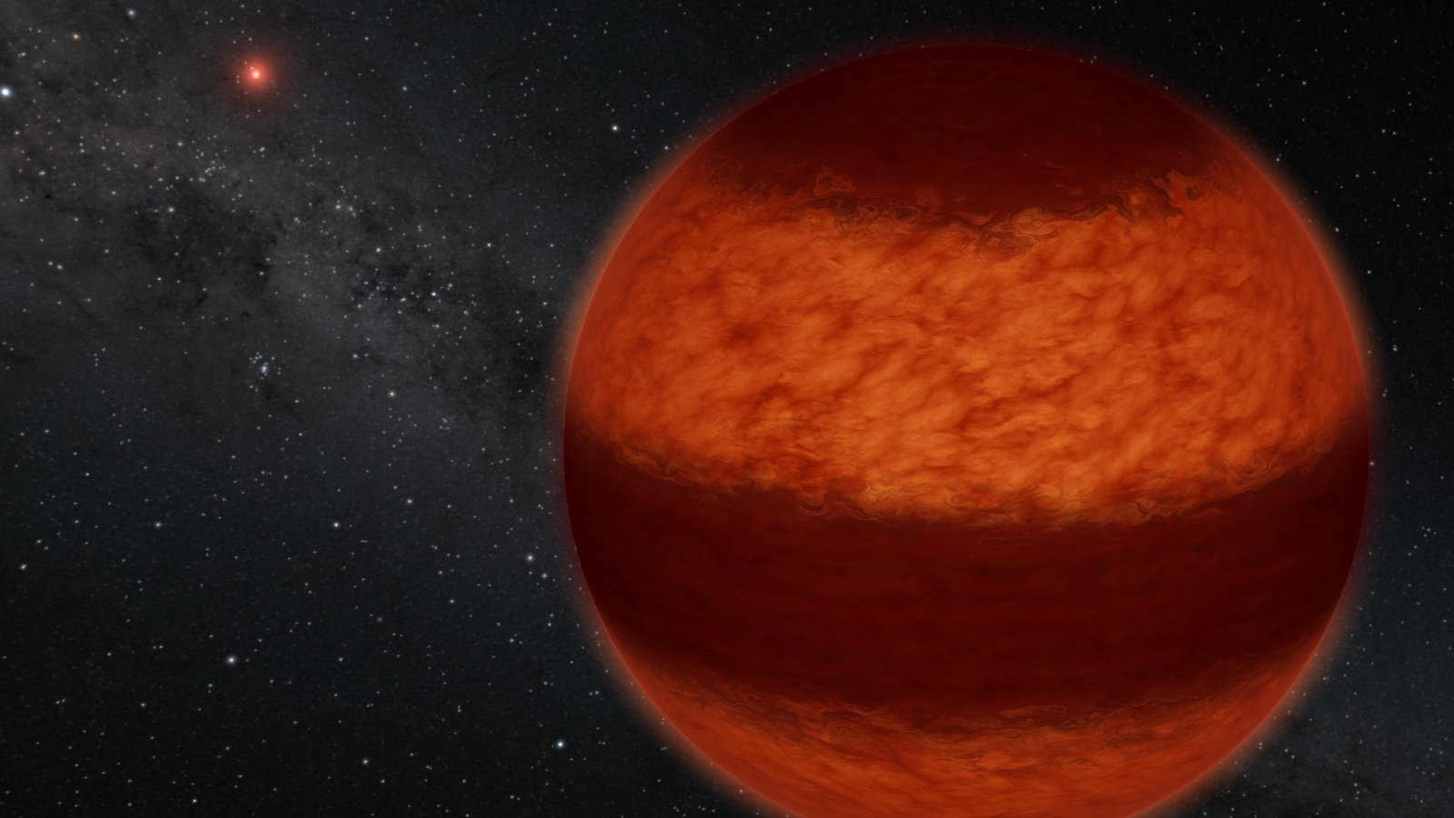 slide 2 - Artist's rendering of a brown dwarf