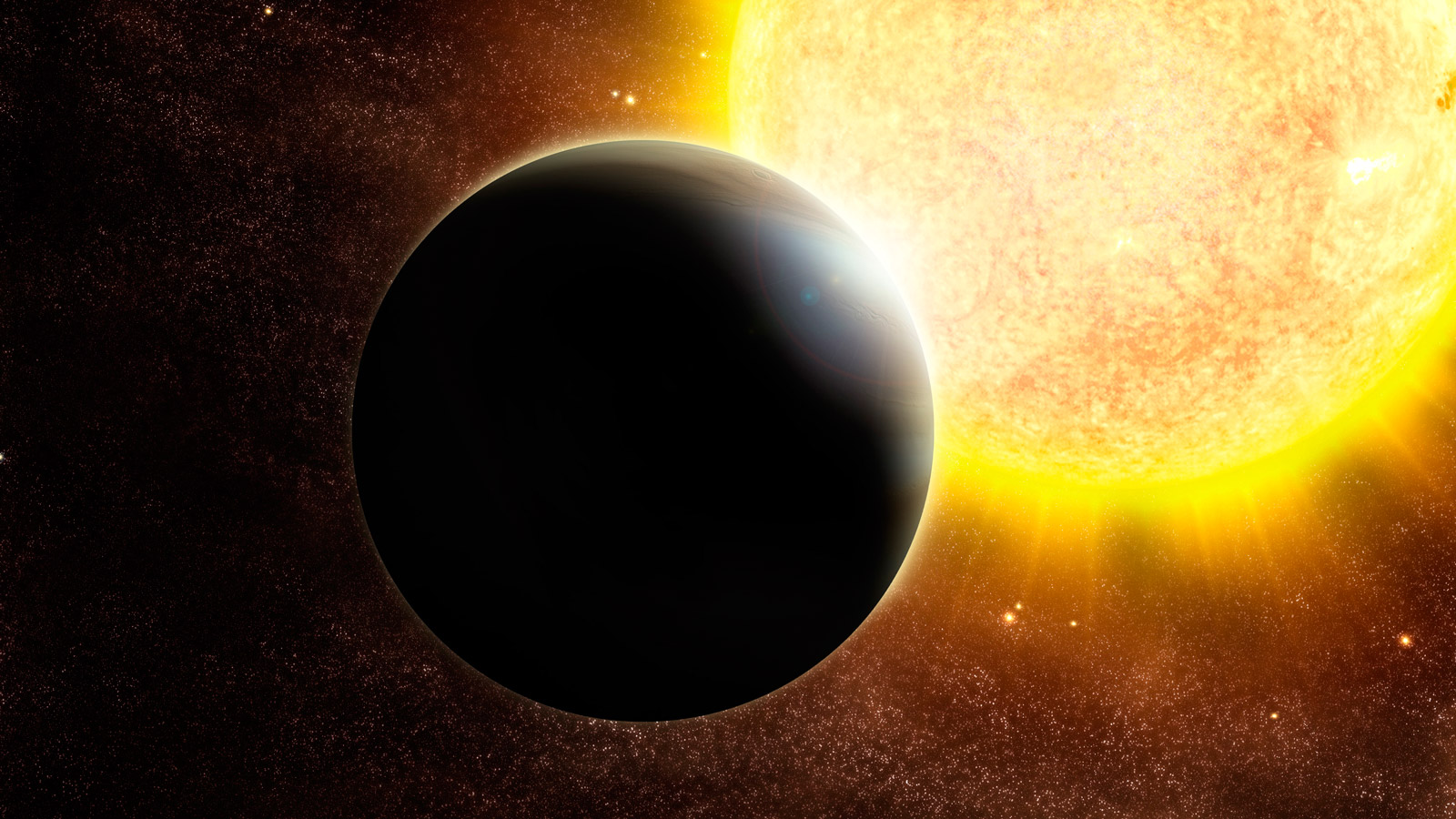 slide 3 - Artist's rendering of an exoplanet and its host star