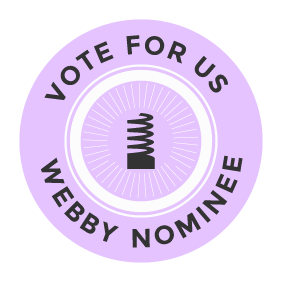 Webby nominee button