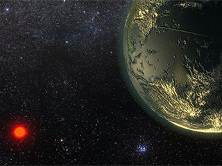 Illustration of an exoplanet.