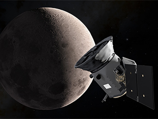 NASA's new planet hunter snaps initial test image, swings by Moon toward final orbit