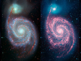 A Whirlpool 'Warhol' from NASA's Spitzer Telescope