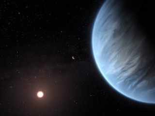 A Hubble first: Water vapor found on habitable-zone exoplanet