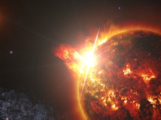 Neighboring Star's Bad Behavior: Large and Frequent Flares