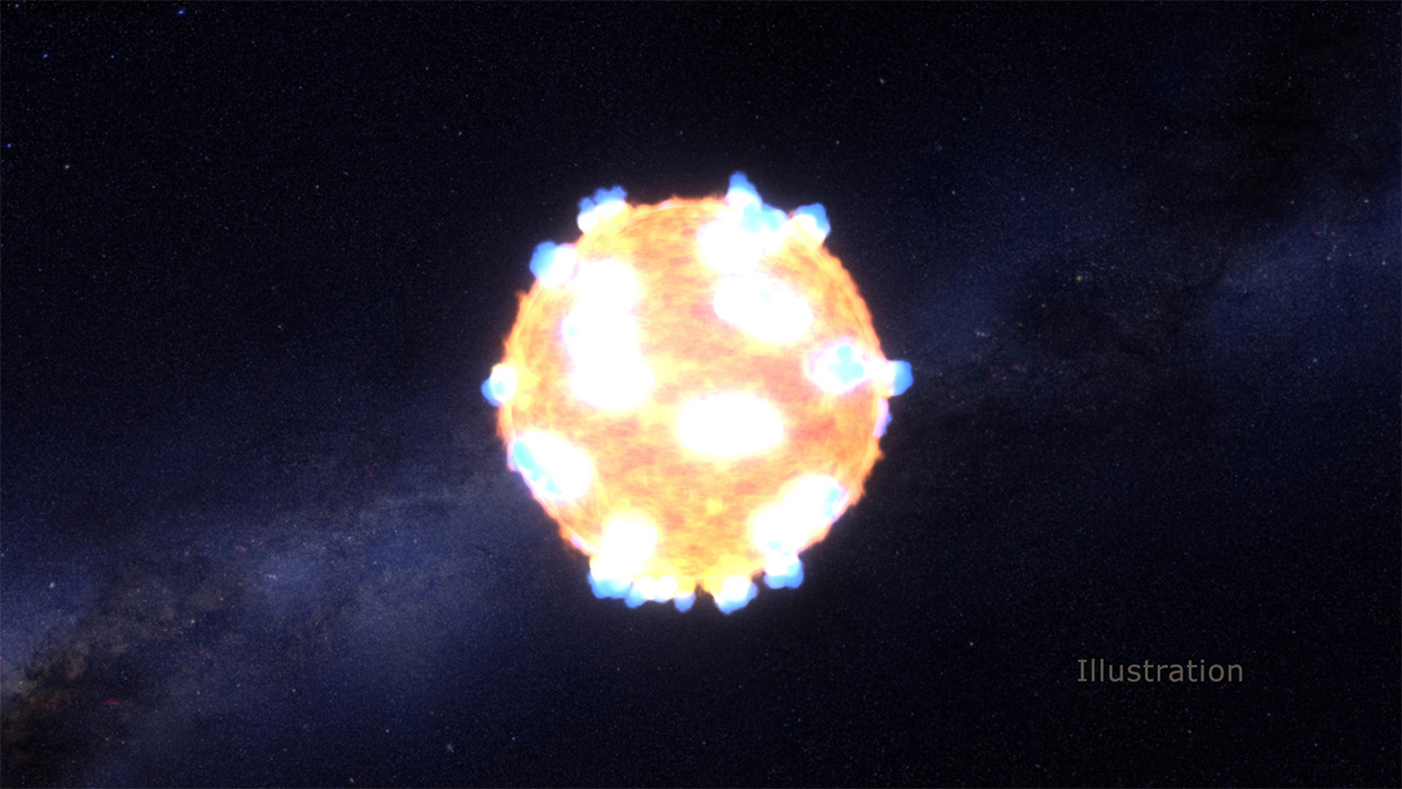 An illustration of an exploding star.