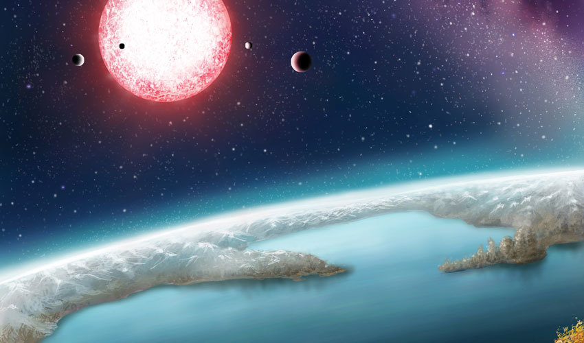 An illustration of Kepler-186f.