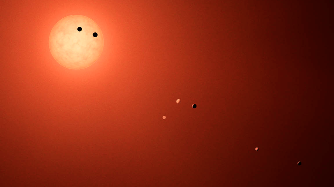 Illustration of TRAPPIST-1 system