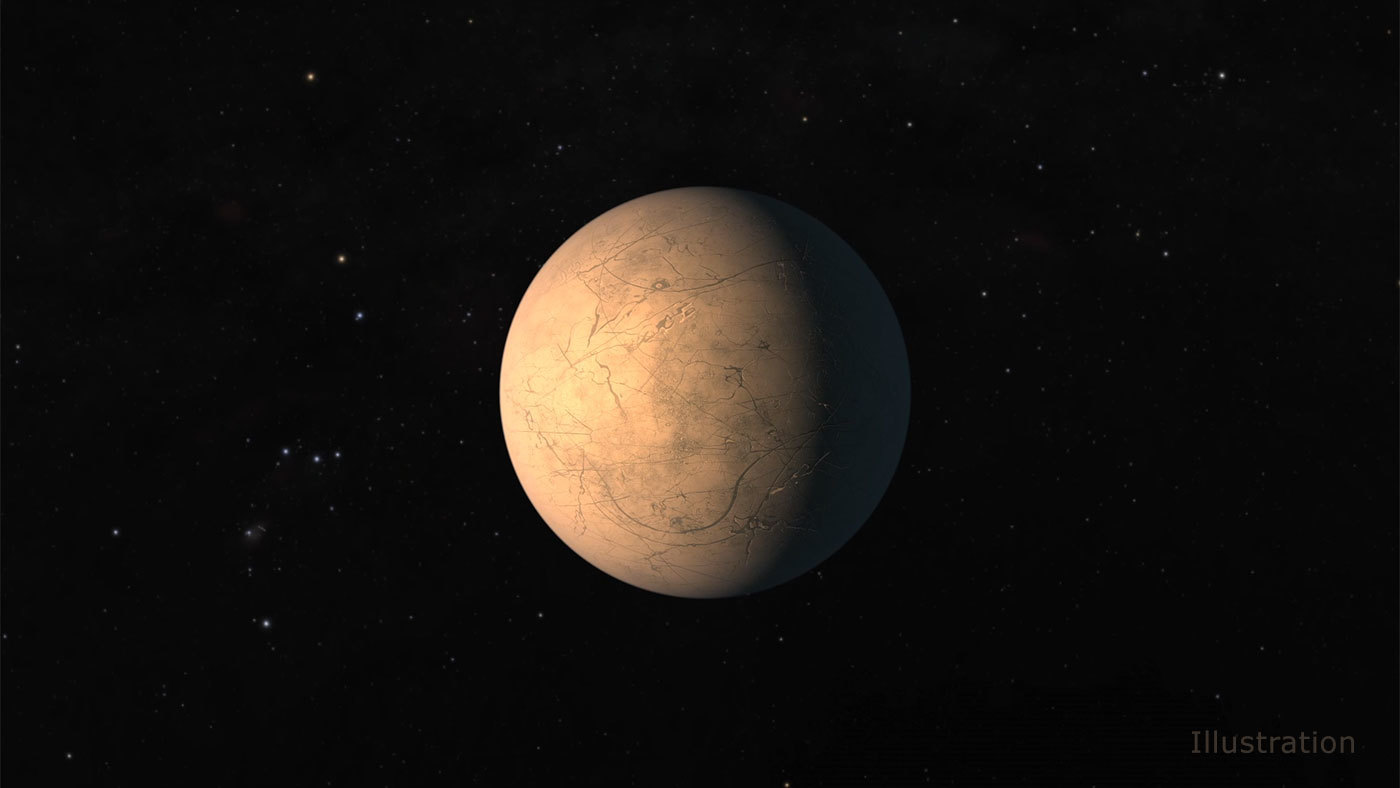 Illustration of TRAPPIST-1d.