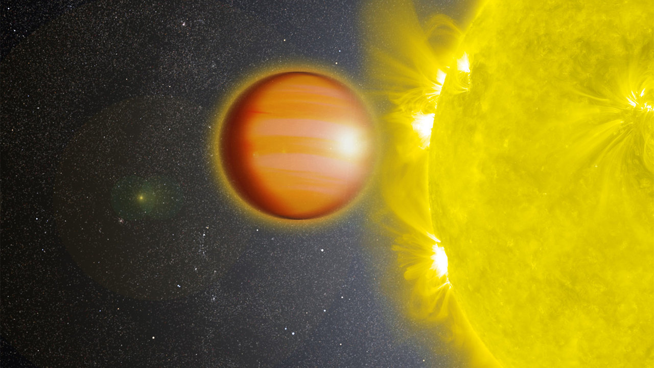 Illustration of the gas giant crossing its star