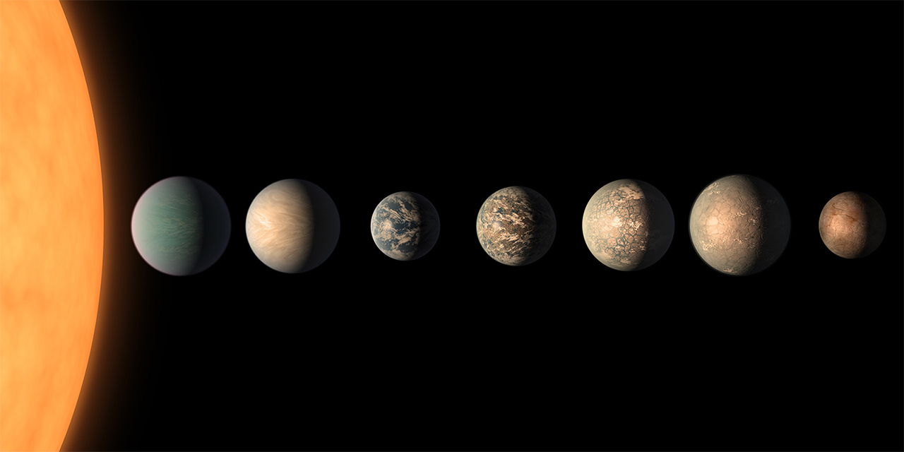 New illustration of the TRAPPIST-1 system.