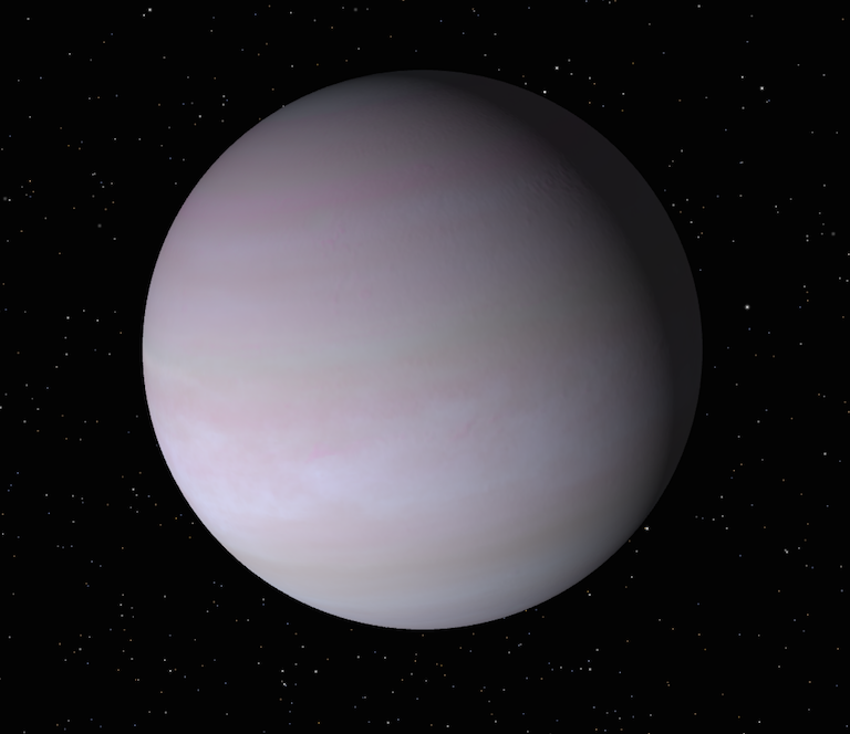 "A NASA visualization of the gas giant, Gamma Cephei A b, also known as ""Tadmor."""