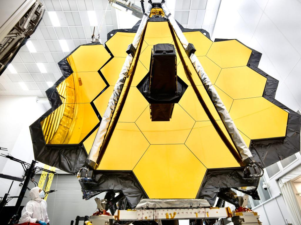 The mirror of the James Webb Space Telescope.