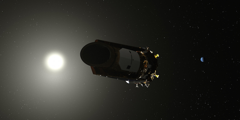 The pointing ability of NASA's Kepler space telescope degrades as fuel runs low. Credit: NASA.