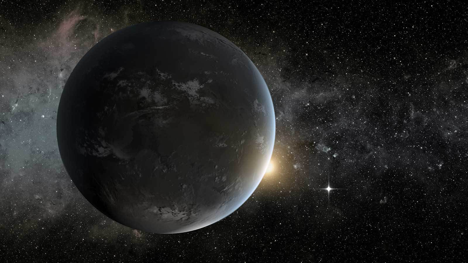 An artist's illustration of an exoplanet in the Goldilocks Zone.