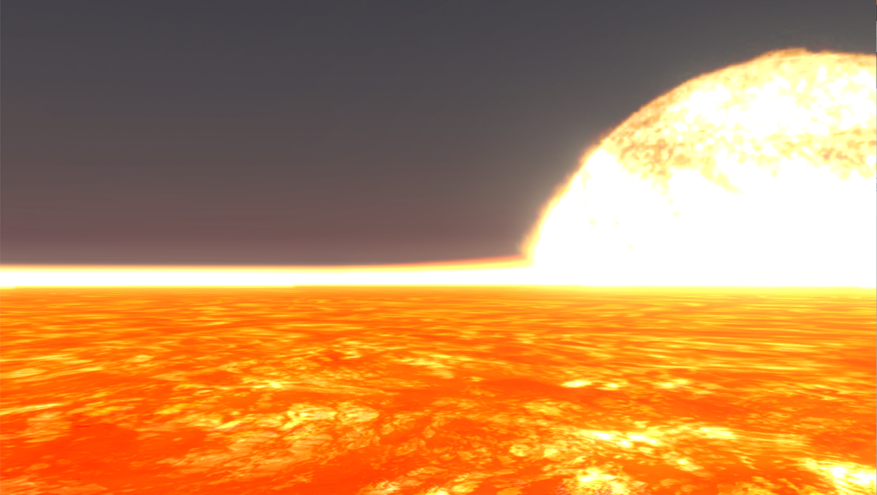 Artist's rendering of the surface of 55 Cancri e