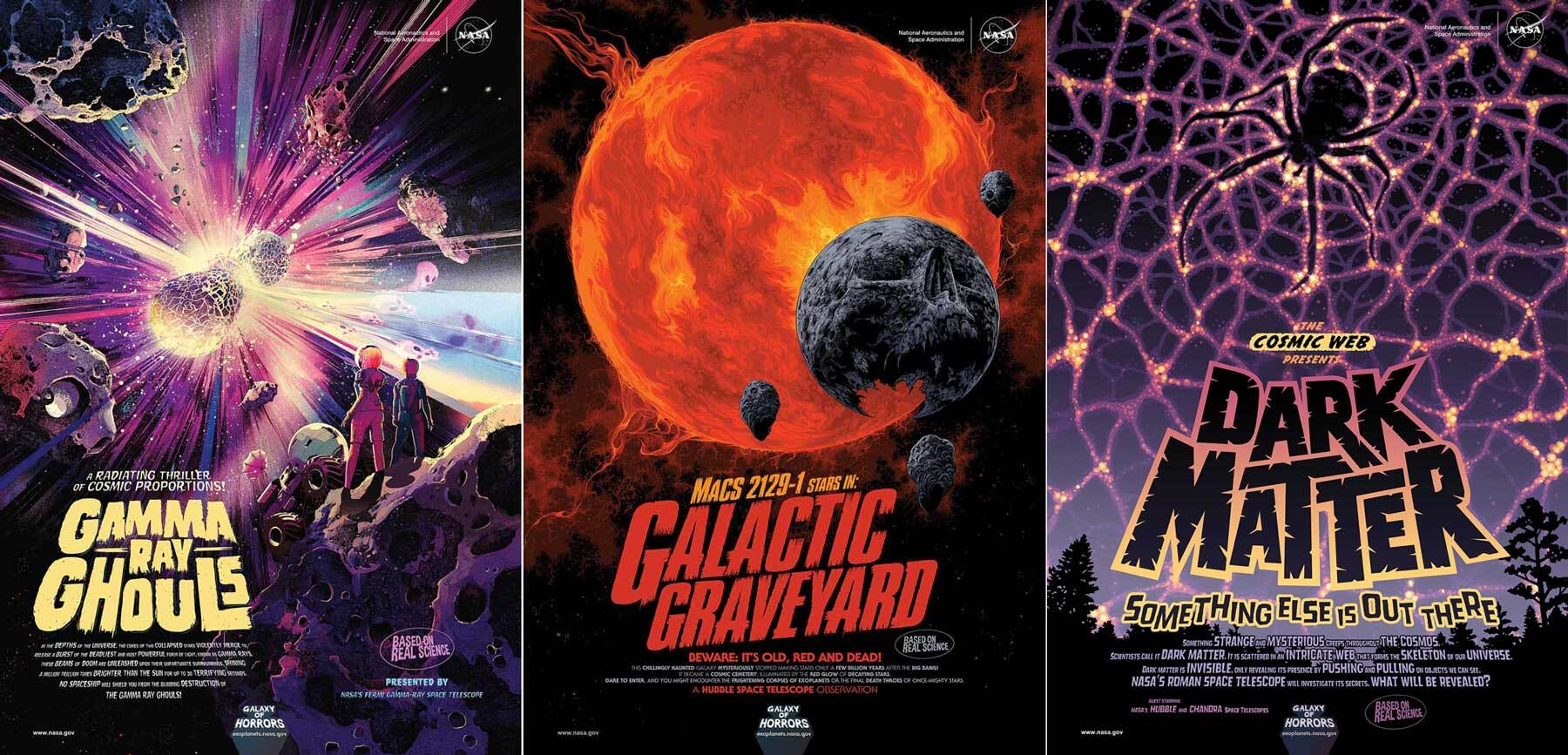 Three new posters based on sci-fi and horror movie ads of the past.