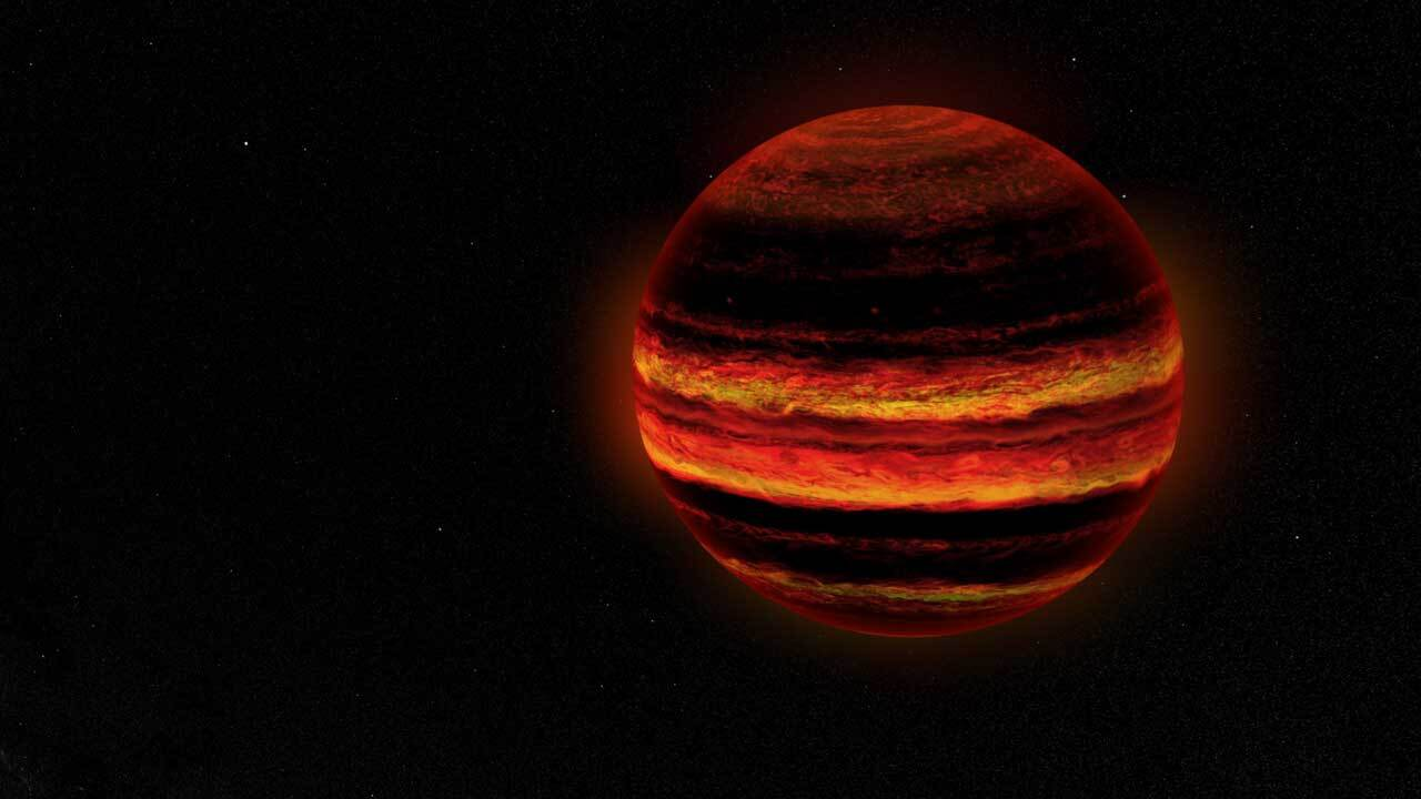 this illustration depicts a brown dwarf – an object that is too heavy to be characterized as a planet,