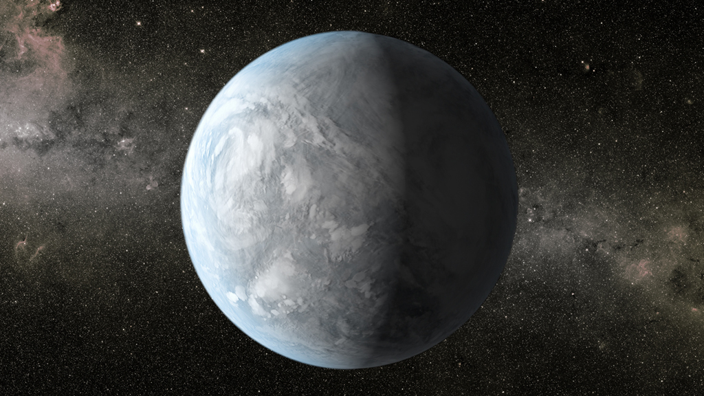"New research from the University of Washington-based Virtual Planetary Laboratory will help astronomers better identify and rule out ""false positives"" in the ongoing search for life. Shown is an illustration of Kepler 62e, about 1,200 light-years away in the constellation Lyra. Image credit: NASA Ames/JPL-Caltech/T. Pyle"