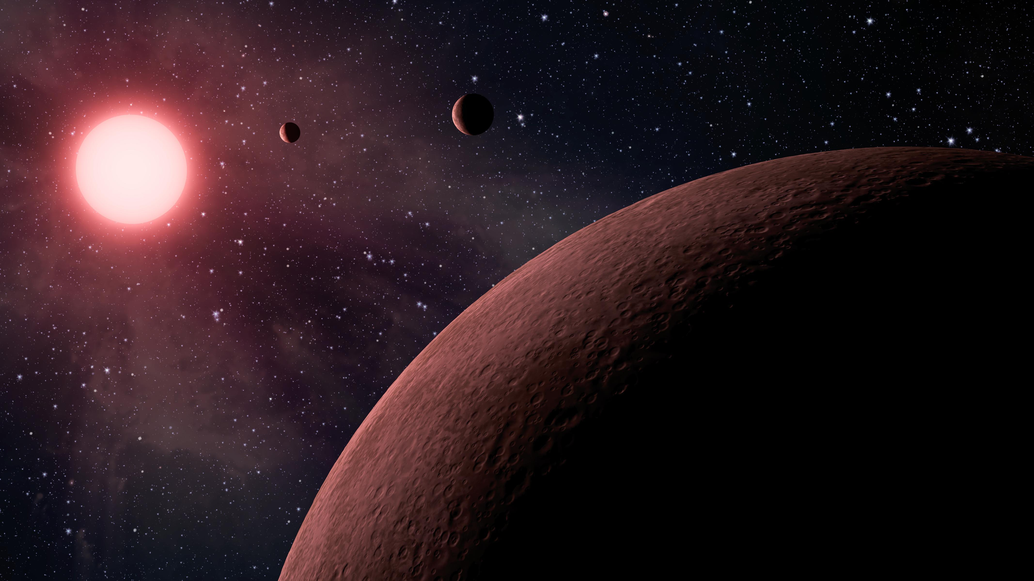 Astronomers using data from NASA's Kepler mission have discovered the three smallest planets yet detected orbiting a star beyond our sun.