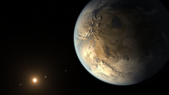 Kepler-186f, the First Earth-size Planet in the Habitable Zone (Artist's Concept)