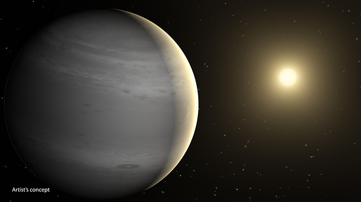 Helium-Shrouded Planets (Artist's Concept)