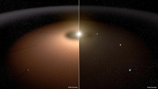 Seeking Planets in the Dust (Artist's Concept)