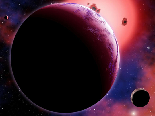 Super-Earth Exposed (Artist's Concept)