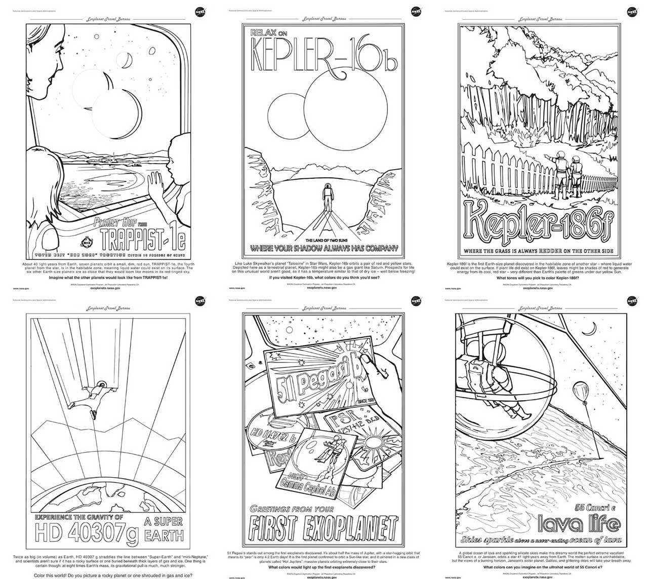 - Exoplanet Travel Bureau Coloring Book – Exoplanet Exploration