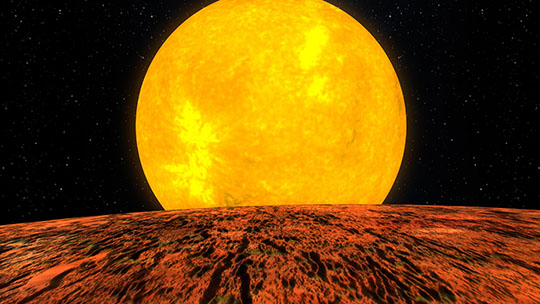 Imagined View from Planet Kepler 10-B