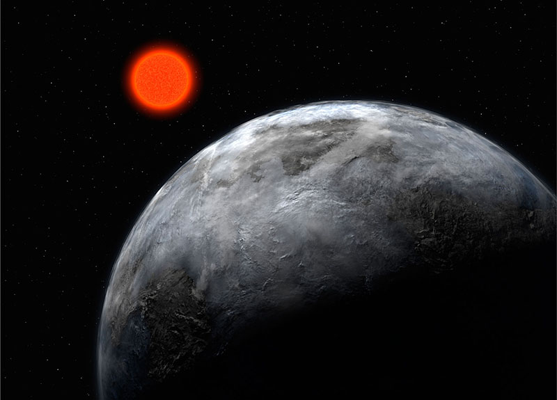 The Earth-like Planet Gliese 581c (Artist's Impression)