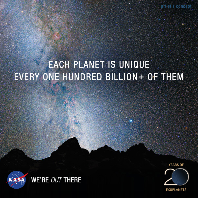 Each Planet Is Unique, Every 100 Billion+ of Them